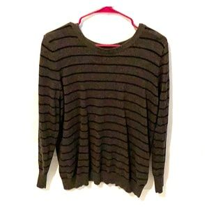 Pixley grey and black striped sweater